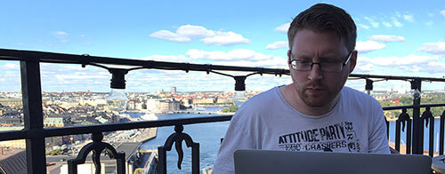 Robert Daly working in Stockholm